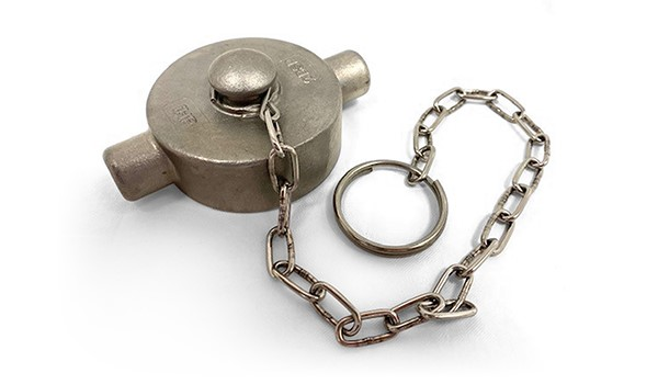 STAINLESS STEEL BLANKING CAP & CHAIN