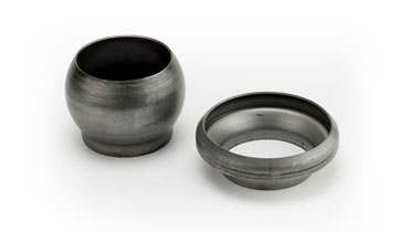 2 Female Socket Bauer Ungalvanised Welding Ends/Lever Ring